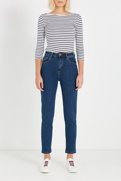 Cotton On  High Rise 90S Stretch Jean, BOWIE MID BLUE  $49.95