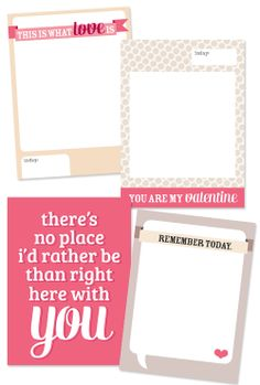 Project Life Journaling cards - Freebie for Valentines day -Dainty Dream, by Mandy Fisher
