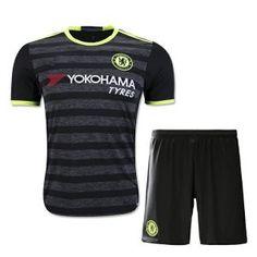 16-17 Chelsea Football Shirt Away Cheap Replica Jersey Kit (Shirt+Shorts) [G00599]