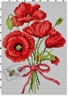 This Pin was discovered by Gyö Cross Stitch Rose, Cross Stitch Flowers, Cross Stitch Charts, Cross Stitch Designs, Cross Stitch Patterns, Cross Stitching, Cross Stitch Embroidery, Embroidery Patterns, Hand Embroidery