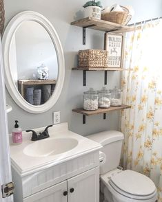 Finding storage broadcast in a little bathroom doesn't have to be a chore. These handsome and useful shelf ideas are perfect for any size space. decoration Bathroom Floating Shelves Design to Save Room Bathroom Shelves For Towels, Add A Bathroom, Bathroom Interior, Bathroom Cabinets, Glass Bathroom, Seashell Bathroom, Peach Bathroom, Small Space Bathroom, Diy Storage For Small Bathroom