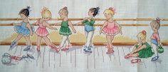 DMC budding ballerinas cross stitch   DMC kit 28 ct. cream a…   Flickr