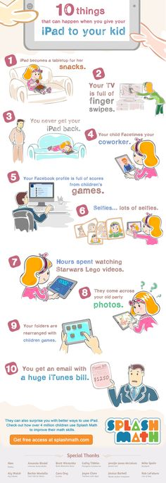 10 Things That Can Happen When You Give Your iPad to Your Kid Infographic