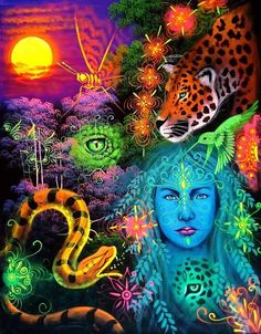 Auras, Hippy Art, Black Love Art, Mushroom Art, Beautiful Goddess, 3 Arts, Visionary Art, Art Furniture, Psychedelic Art