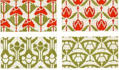 ideas for art nouveau border design watches Cross Stitch Art, Cross Stitch Borders, Cross Stitch Designs, Cross Stitching, Cross Stitch Embroidery, Embroidery Patterns, Cross Stitch Patterns, Fair Isle Knitting Patterns, Knitting Charts