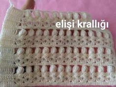 ÇOK GÜZEL YELEK YAPILIŞI - YouTube Crochet Crocodile Stitch, Makeup Wipes, Knitting Videos, Mcqueen, Travel Size Products, Shawl, Diy And Crafts, Couture, Crochet Patterns