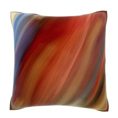 Add a sense of movement to your home decor with this decorative square accent pillow. Designed with 100-percent polyester velour fabric, this unique pillow features a multicolored motion blur pattern that will appeal to people of all ages.