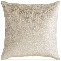 "Donna Karan Tidal 16"" Square Leather Decorative Pillow ($207) ❤ liked on Polyvore featuring home, home decor, throw pillows, silver, modern home accessories, leather home decor, leather toss pillows, modern home decor and leather accent pillows"