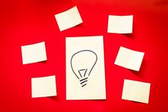 Post Its, Idea, Table, Red
