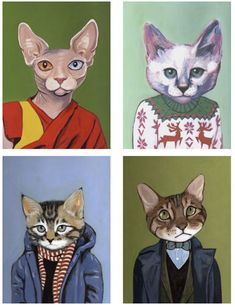 definitely.  cats in clothes.