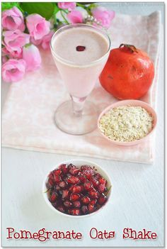 Pomegranate Oats Milkshake Recipe