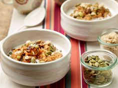 Pumpkin Spice Oatmeal recipe from Food Network Kitchen via Food Network