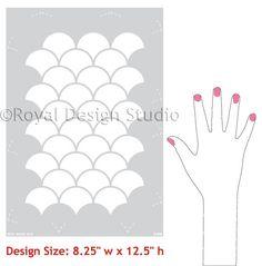 Moroccan Scallops Furniture Stencils for Painting - Royal Design Studio