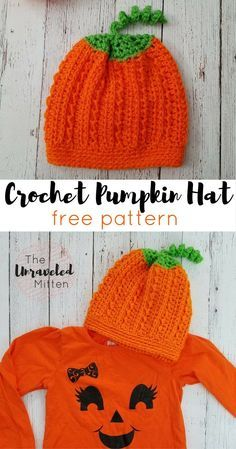 Pumpkin Hat | Free Crochet Pattern | The Unraveled Mitten | Halloween Costume
