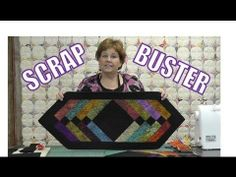 Fast And Easy Table Runner Using A Bunch Of Left Over Scraps. By Missouri Star Quilt Company!