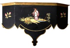 Black Tole Chinoiserie Shelf on OneKingsLane.com