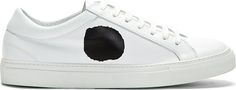 Comme des Garcons Shirt - White Leather Low Top Spot Sneakers