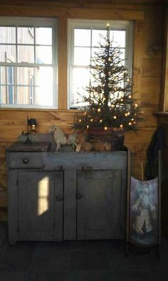 Sweet simple cabin Christmas