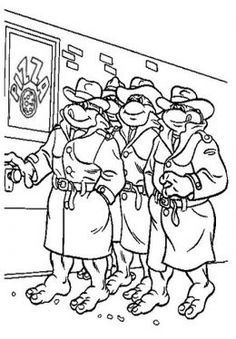 tmnt coloring pages on pinterest - photo#26