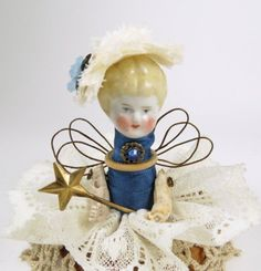 Assemblage Angel Tiny Blue  Assemblage Art Doll by ferrytalesgifts, $27.00