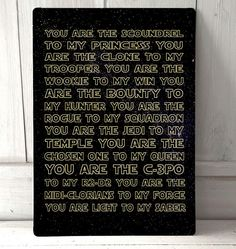 Starwars Love quote sign A4 metal plaque picture home deco Kitchens  Printed aluminium metal plaque. Would look great in any bedroom, bar, or office
