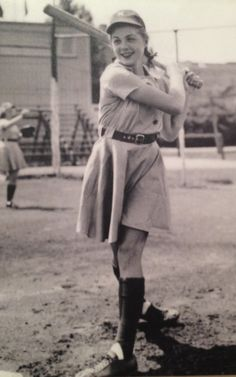 """The youngest player in AAGPBL history, Dorothy """"Dottie"""" Schroeder was 15 years old when she started her professional baseball career."""