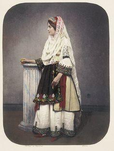 Greek traditional dress 1855 Source by gypsitech dresses ideas Folk Clothing, Greek Clothing, Historical Clothing, Greek Traditional Dress, Traditional Outfits, Folk Fashion, Modern Fashion, Greek Dress, Kosem Sultan