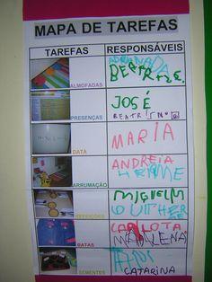 instrumentos de organização da sala no jardim infancia - Pesquisa Google School Projects, School Ideas, Classroom Organization, Preschool Activities, Teaching Kids, Montessori, Bullet Journal, Kindergarten, How To Plan