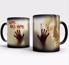 the walking dead mugs zombie mugs daryl Dixon morphing coffee mug magic mugs transforming novelty heat changing color tea cups