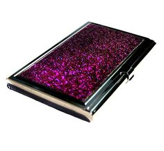 Stingray Business Card Case - Metallic Magenta Stainless Steel by UNEARTHED