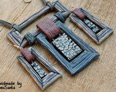Fish jewelry set Polymer clay jewelry set by HandmadeByAleksanta