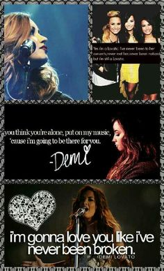 4 the Lovatics! That middle quote always gets to me....