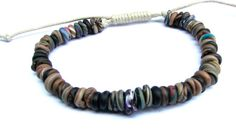 adjustable polymer clay bracelet in natural colors by greenchicliz, $8.50