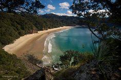 New Chums Beach in Coromandel, New Zealand. The best beach in the world.