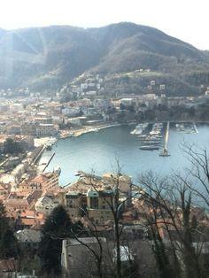 Panorama su Como e il suo lago (dalla funicolare) Italy