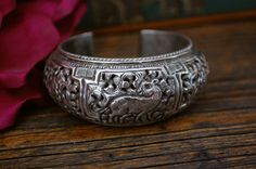 Hey, I found this really awesome Etsy listing at https://www.etsy.com/listing/179160047/nepalese-repousse-cuff-bracelet-with-a
