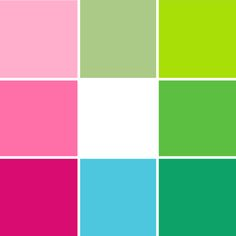Lilly Pulitzer colors
