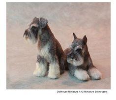 Kerri Pajutee Miniature Animals ~ Miniature Schnauzers