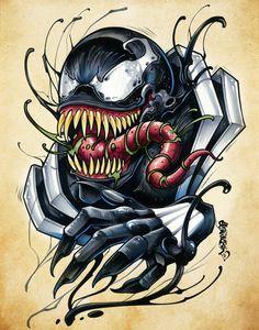 How To Draw People - Cartoon And Realistic - Drawing On Demand Venom Comics, Marvel Venom, Marvel Villains, Marvel Art, Marvel Characters, Marvel Drawings, Art Drawings, Venom Tattoo, Venom Art