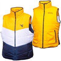 Columbia West Virginia Mountaineers Ladies Triple Option Full Zip Reversible Vest ...love it!