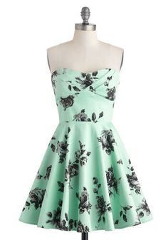 This dress looks like mint chocolate chip ice cream and I want it.