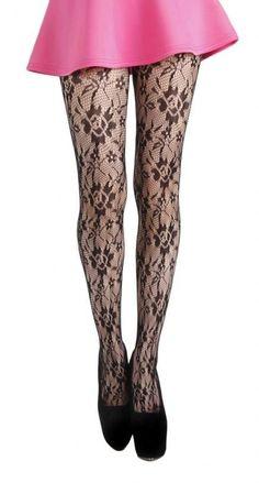 Uwant Fashion Lattice Black Fishnet Hold Ups Ladies Fancy Dress Stockings One Size