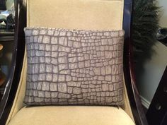 ANN GISH Down Filled CROC COLLECTION Boudoir Pillow In GUNMETAL  | eBay