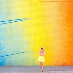 Trending SS14 - brightly coloured wall #ootd #thedailydagny #atlanticpacific Blair Eadie, Love Magazine, Atlantic Pacific, Silk Mini Dress, Wall Colors, Beautiful Images, Bright Colors, Color Combinations, Style Icons