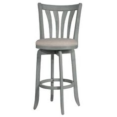 Highland Dunes Marquita Bar & Counter Swivel Stool | Wayfair Wood Counter Stools, Bar Counter, Breakfast Bar Chairs, Bar Stools With Backs, Hillsdale Furniture, Chair Upholstery, Cream, Fabric, Blue