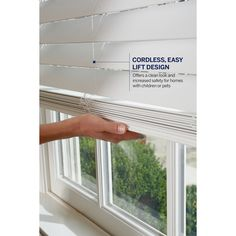 Shop Custom Size Now by Levolor 2-in White Faux Wood Room Darkening Cordless Plantation Blinds (Common 23-in; Actual: 22.5-in x 72-in) at Lowes.com
