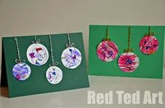 There are few things that remind us of Christmas than beautiful baubles or ball ornaments. These Artsy Bauble Kid-Made Christmas Cards are fun Christmas crafts for kids that star the iconic ornaments. These DIY cards easy Christmas crafts for kids. Kids Crafts, Christmas Crafts For Toddlers, Christmas Arts And Crafts, Preschool Christmas, Christmas Cards To Make, Xmas Cards, Christmas Themes, Holiday Crafts, Christmas Diy