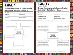Resultado de imagen de trinity grade 5 topic form