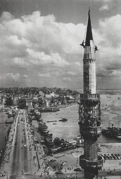 ✿ ❤ Perihan ❤ ✿ Galata Bridge Istanbul 1957 Photo: Ara Güler