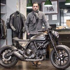 """ with ・・・ { Ducati Scrambler Revolution } Revolution is a Ducati Scrambler that has undergone the full bobber…"" Ducati Scrambler Sixty2, Moto Ducati, Ducati Cafe Racer, Ducati Motorcycles, Scrambler Motorcycle, Motorcycle Gear, Bobber, Cafe Racers, Scooters"